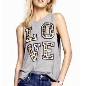 Express LOVE muscle tee